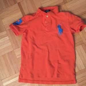Boys orange Polo by Ralph Lauren
